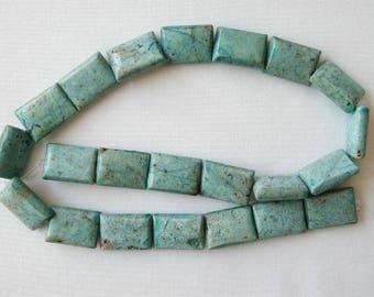 "18mm chrysocolla rectangle beads 16"" strand 2395"