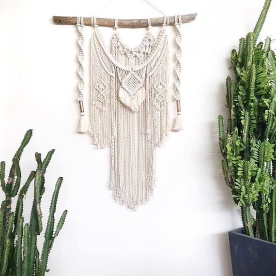 Extra Large Majestic Jewel Wall Hanging - Optional Dip Dye