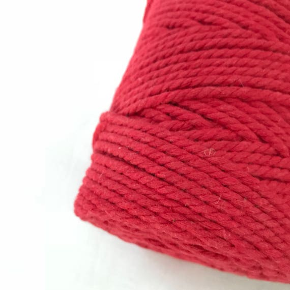 FIRE ENGINE RED Macrame Cord