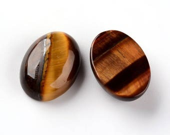 1 oval cabochon class Tiger eye has natural 18x13mm