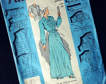 Vintage - Nightgown sewing pattern size 46/48/50 woman - model garment 1950