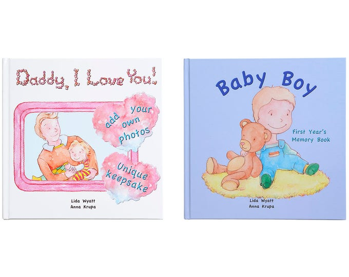 Daddy, I Love You! & Baby Boy Bundle -Choose from 3 Hair/Skin Colour Options