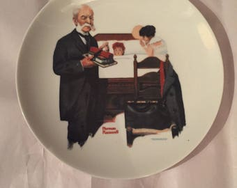 "Norman Rockwell ""Schoolitis"" Collectible Plate"
