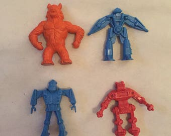 Lot of Miniature Transformers and Diener Cyclops Monster Rubber Eraser