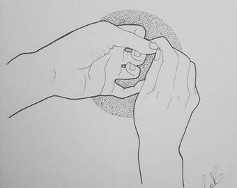 Onychotillomania - Original Drawing
