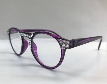 Swarovski Reading Glasses Handmade with Crystals +1.50 +2.50