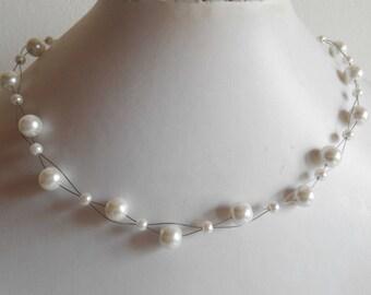 Bridal twist White Pearl