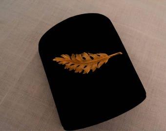 Coro Gold Tone Leaf Brooch