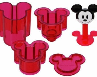 Mickey Mouse Rice Ball Maker Small Size -  Oniguiri Mold Tools by Skater おにぎり押し型
