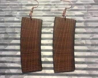 Whiskey Barrel Stave Earrings