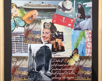 """Paintings collage under glass """"Go"""""""