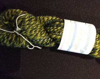 Handspun yarn of wool and silk