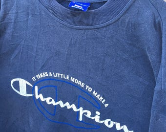 Rare!!! Vintage 90s CHAMPION Spell Out Big Logo Streetwear Casual Hip Hop