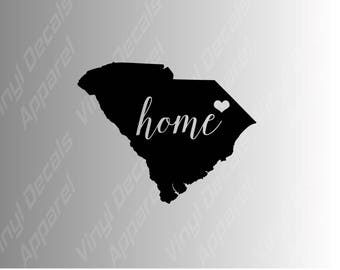 South Carolina home state die cut vinyl decal sticker for car, laptop, yeti decal, etc..