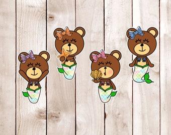 Mer-Bears Card Stock Die Cuts DC 008