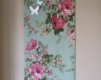 Hanging wall flower motifs and butterflies