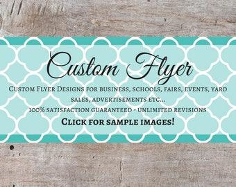 Custom Flyers, Event Flyer, Business Flyer, Custom Printable Flyer Designs, Online Flyer Maker, Design A Flyer, Party Flyers, Online Flyer