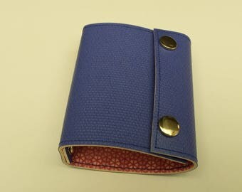 Recycled - Card holder recycled linoleum color Navy