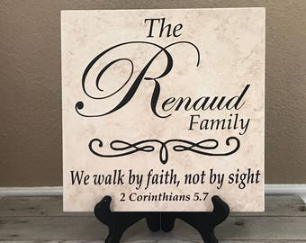Spiritual Gift, Name Tile, Family Gifts, Wedding Gifts, Personalized Gifts, Personalized Sign, Last Name Sign, Birthday Gifts, Wedding Gift