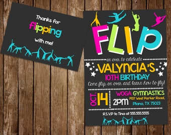 Flipping Thank you card