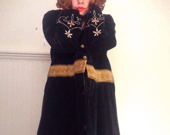 RARE Edwardian Freemason Coat With Floral Embroidery