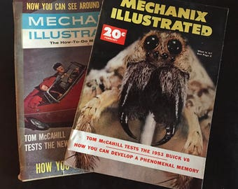 Lot of 2 Mechanix Illustrated Magazine April 1963 Feb 1953 how-to