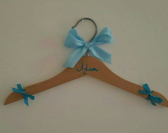 Beautiful wooden boy hanger