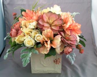 Blush Peach and cream arrangement