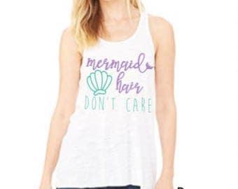 Mermaid Hair Don't Care - Mermaid Tank - Mommy and Me Mermaid Shirts