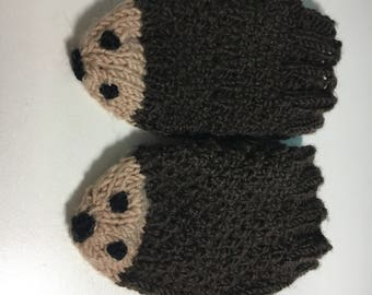 Adorable Kid's Hedgehog Mittens!!!