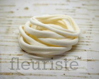 ivory Nylon Headbands, Nylon Baby Headband, Nylon Headbands Wholesale DIY Headbands Baby, Soft Stretch Head Wrap, Baby Headband Ivory