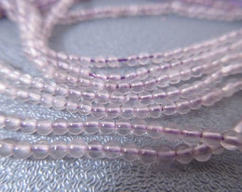 Cape Amethyst Round Beads 2mm 16""