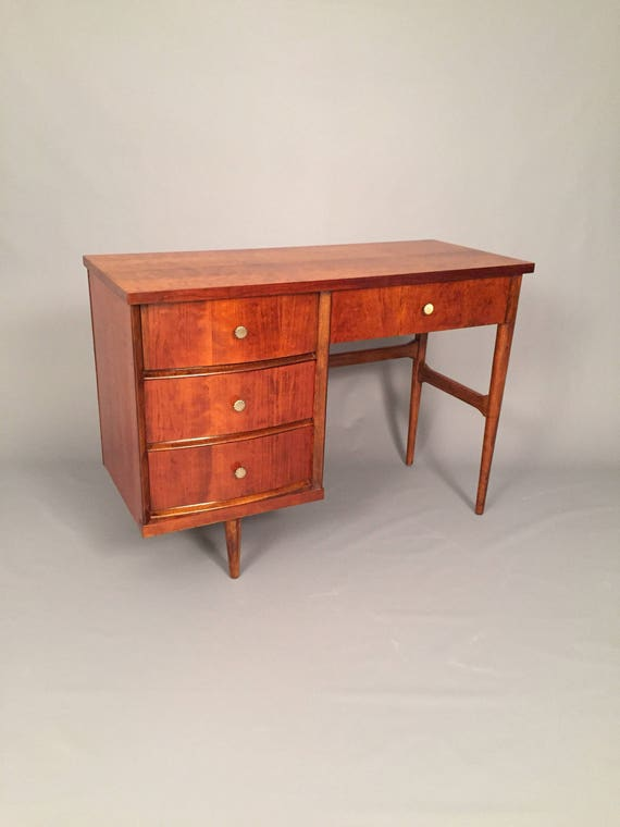 Mid-Century restored Bassett Desk with 4 drawers