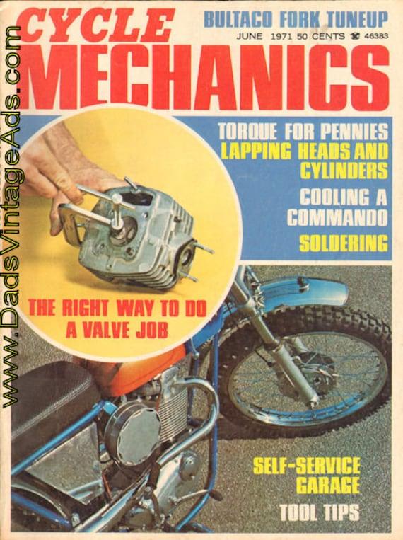 1971 June Volume 2 Number 6 Cycle Mechanics Motorcycle Magazine Back-Issue #7106cm