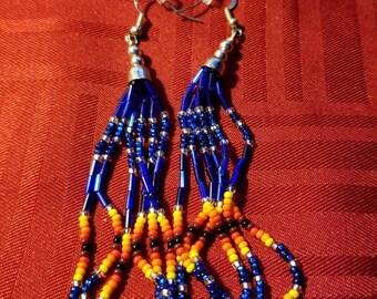 Blue beaded Earrings