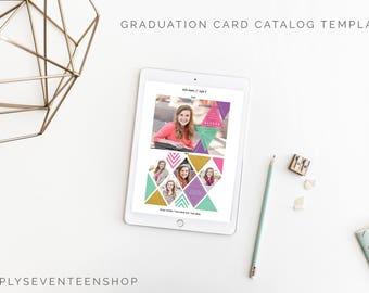 Graduation Announcement Catalog Template for Photographers