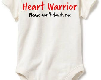 Heart Warrior Please Don't Touch Me Infant Shirt