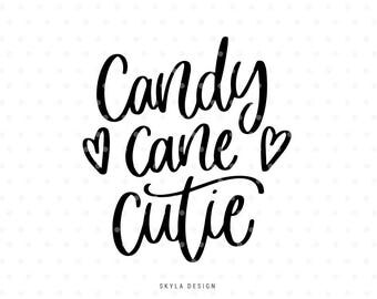 Candy cane cutie svg, Svg files, Christmas svg, Winter svg, Svg cut files, Quote svg, Cute svg, Kids svg, Merry Christmas svg