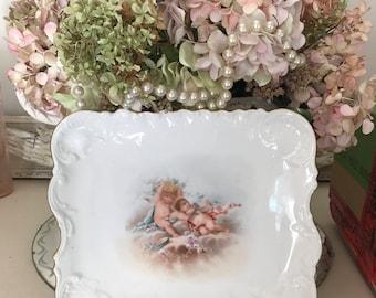 Vintage Cherub Plate