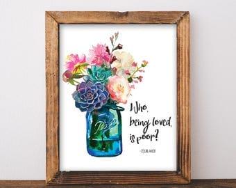 Peony mason jar etsy for Art and decoration oscar wilde