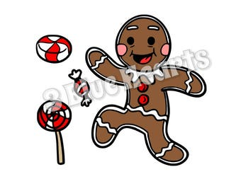 Gingerbread Man svg studio dxf pdf jpg png