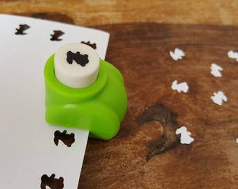 NEW! A hole punch pattern scrapbooking Easter rabbit