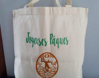 * Happy Easter * Tote bag for harvest hunting for eggs from your child