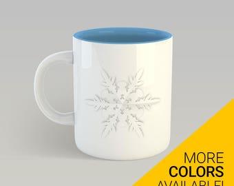 Snowflake Mug, Coffee Mug, Winter Mug