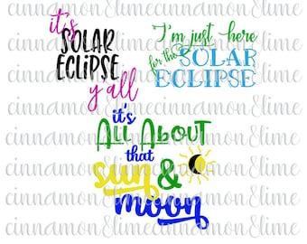 Solar Eclipse Svg, Solar Eclipse 2017, Eclipse Svg, Total Eclipse 2017, Eclipse Party Svg, Eclipse DIY Shirt, Sun Svg, Moon Svg, USA Solar