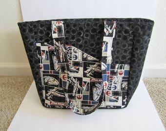 Star Wars Bag, Star Wars Tote Bag, Fabric Tote Bag, School Bag, Teacher Bag, Nerd Gift, College Bag, Gift for Her