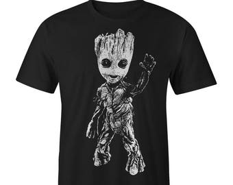 Groot Full Front Baby Groot T-shirt , Guardians of the Galaxy Tee Guardians of the Galaxy Shirts Guardians of the Galaxy T-shirts Groot