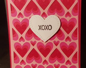Triple Layered Heart Card Valentine's Day
