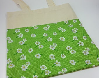 Daisy fabric tote bag