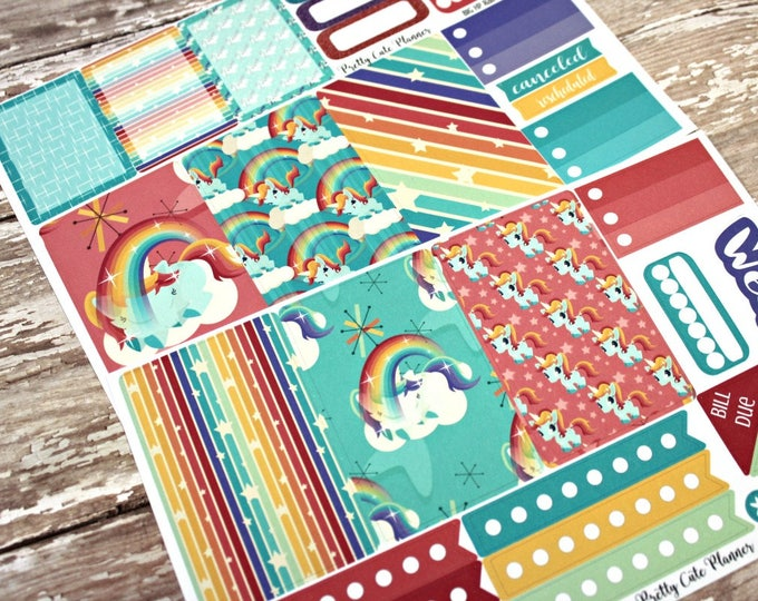 BIG Happy Planner Planner Stickers - Weekly Planner Sticker Set - Happy Planner - Day Designer - Functional stickers - Rainbow Unicorn